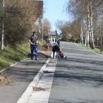 Arbeitseinsatz der Dorfjugend an der Hesselbacher Straße